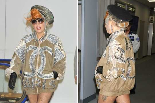 Lady+Gaga+is+seen+as+she+departs+from+Narita+Airport