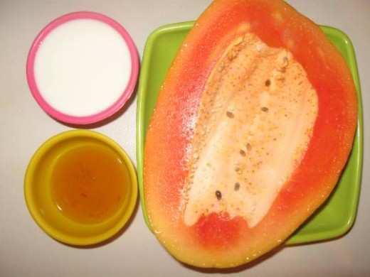 curd-papaya-honey-skin-care