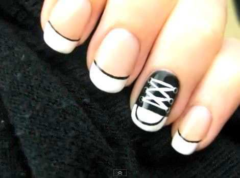 black-and-white-shoes-nail-art