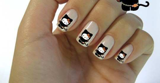 black-kitty-nail-art