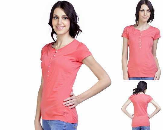 wrangler-pink-cotton-tshirt-yebhi