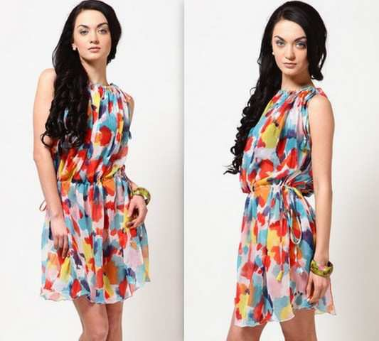 Color-Splash-Print-Dress