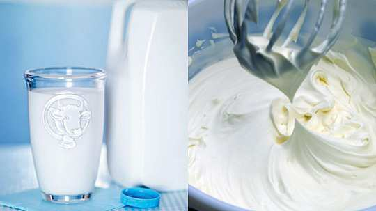 Milk-and-cream-for-split-ends