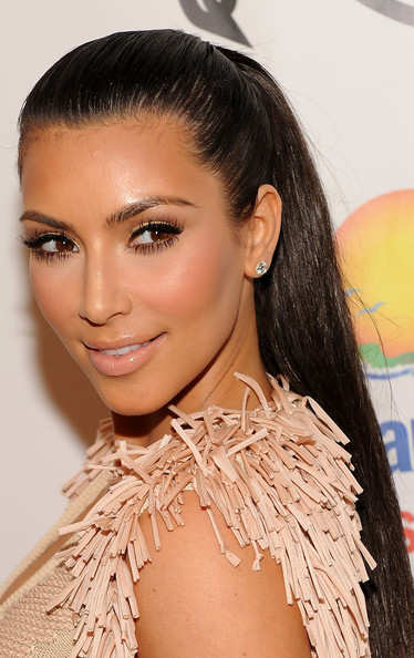 Sleek-Pony-Kim-Kardashian