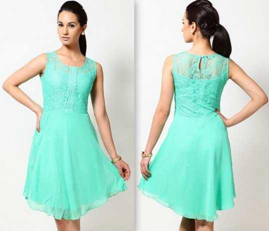 Soie-Green-Lace-Dress