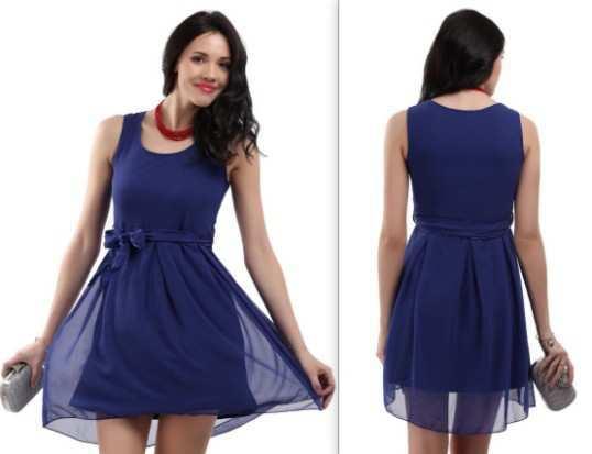 The-Vanca-Women-Blue-Georgette-Dress