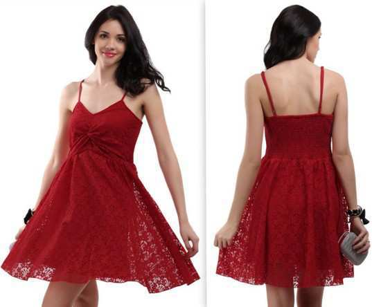 The-Vanca-Women-Red-Bale-Lace-Dress