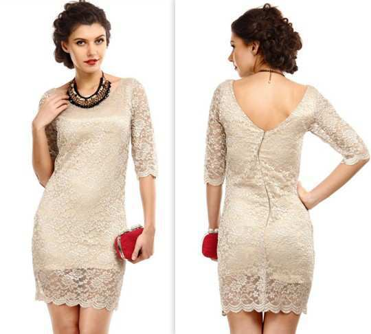 Tonga-Beige-Shimmer-Lace-Dress
