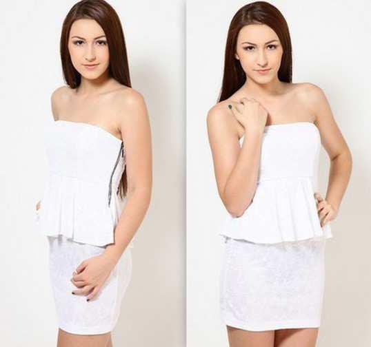 White-Lace-Tube-Dress