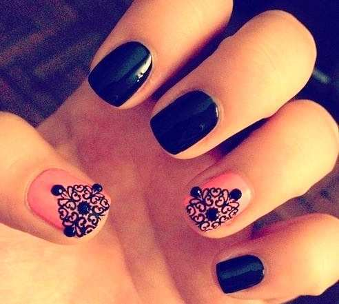 black-lace-nail-art-with-pink