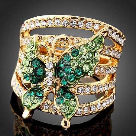 green-butterfly-ring