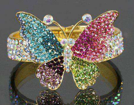 multi-colored-butterfly-ring