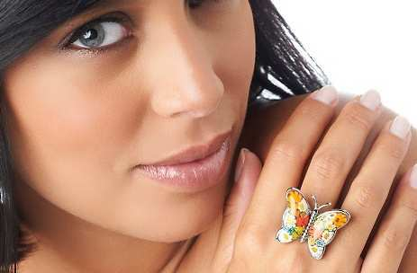 steel-multicolor-butterfly-ring