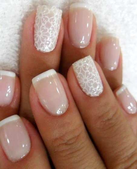 white-french-nails-with-lace