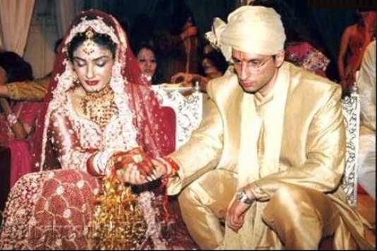 Raveena-Tandon-and-Anil-Thadani-wedding
