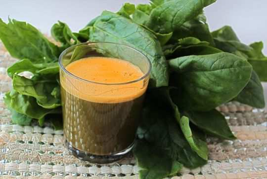 Spinach-carrot-juice
