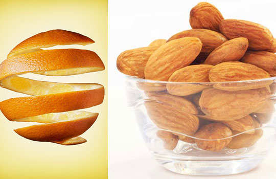 skin-blemishes-home-remedies-orange-peel-almonds