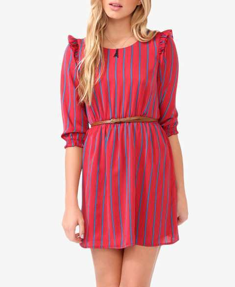 red-and-blue-Stripes-dress