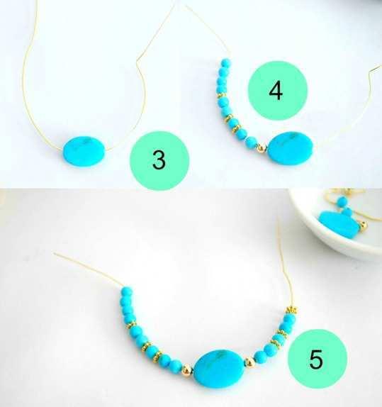 Beaded-Hoop-Earrings-step-3-4-5