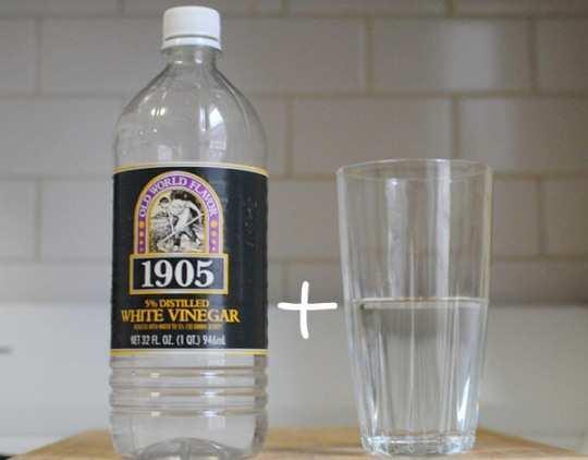 vinegar-and-water