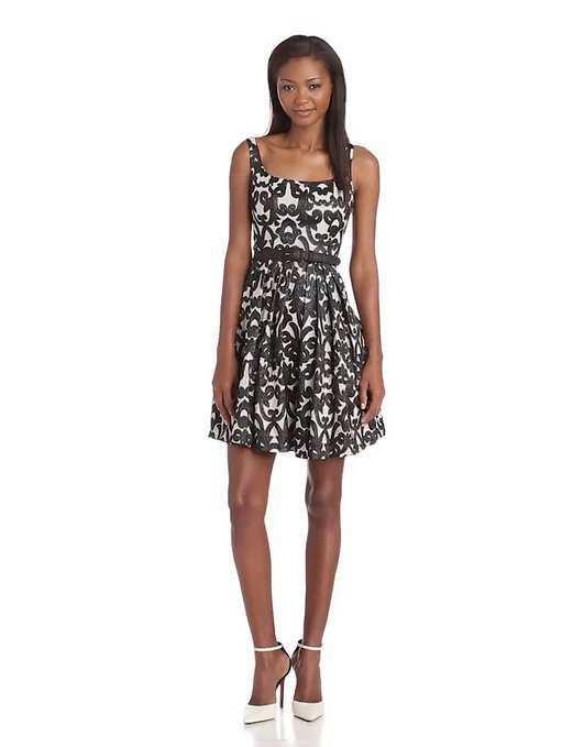 black-printed-sundress-amazon
