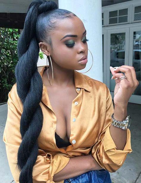 twisted sleek ponytails fr women