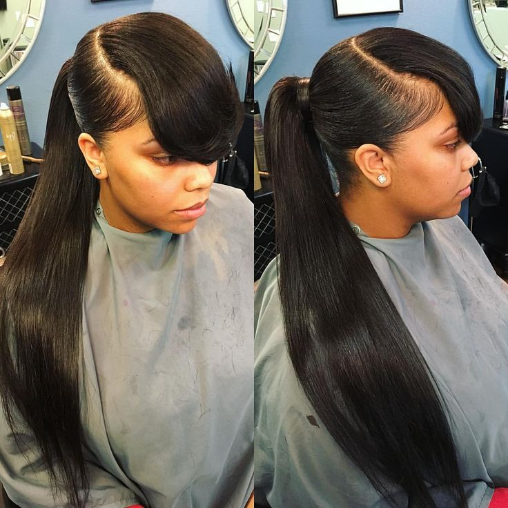 Sleek Ponytail with a Front Weave