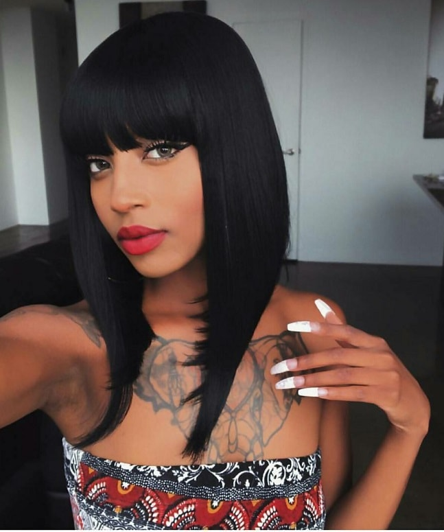 A-line weave bob for black women