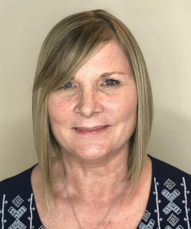 Long Graduated Bob for Fine Hair Over 50