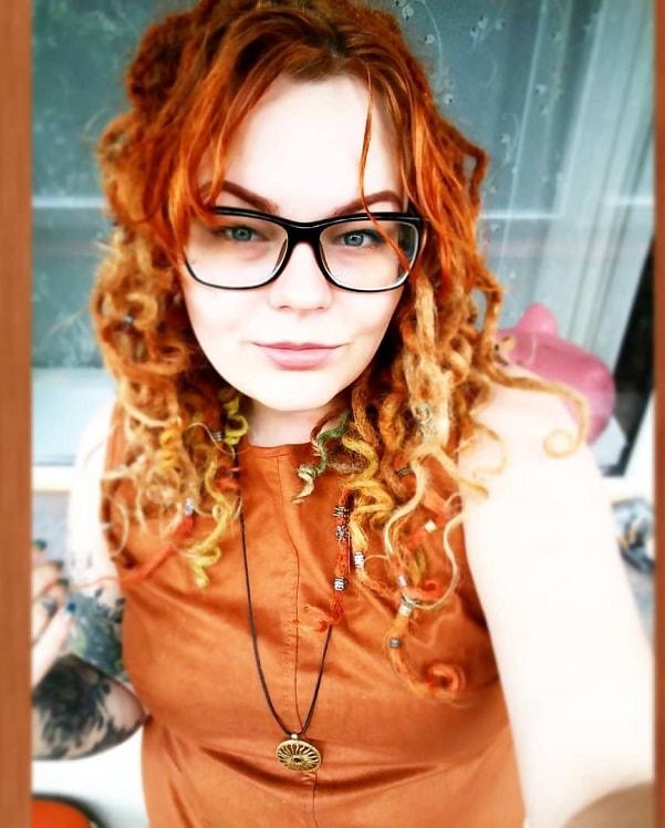 women with curly dreadlocks