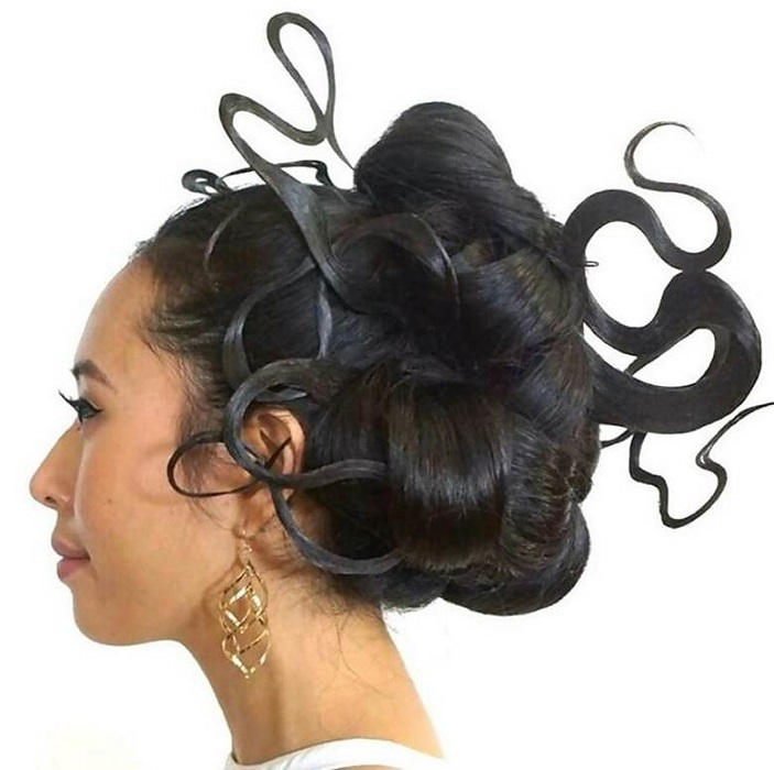 woman with fantasy updo