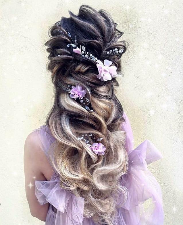 fantasy bridal hairstyle