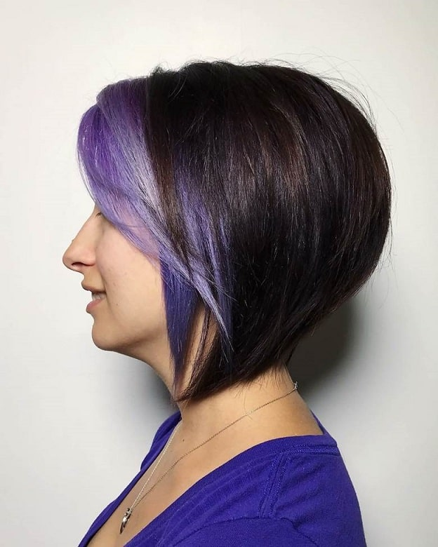 inverted bob with bangs and layers