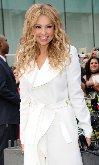 Thalía with blonde hair