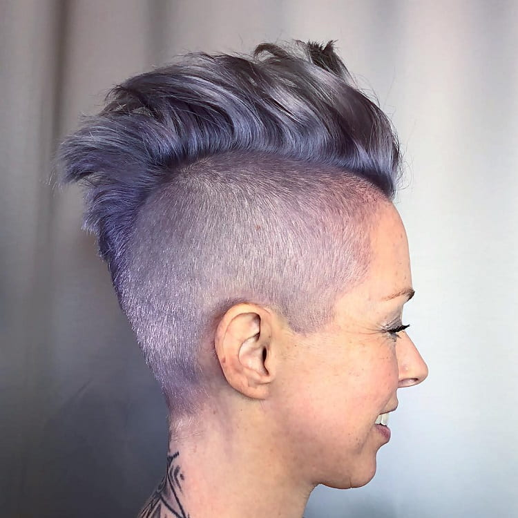 Pastel Purple Mohawk Haiorstyle for Women