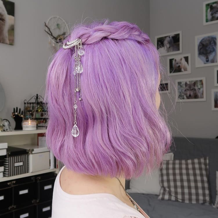 pastel purple bob for women