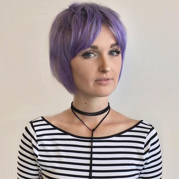 Pastel Purple Bob