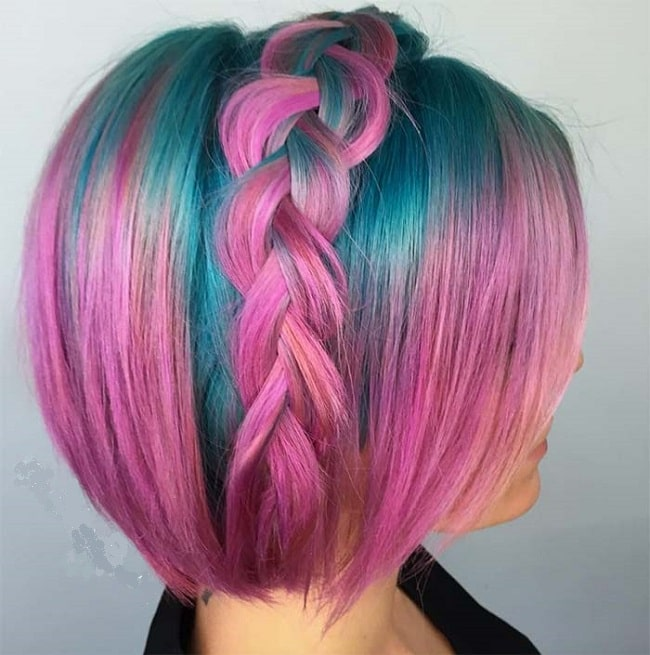 pink hair color for short hair