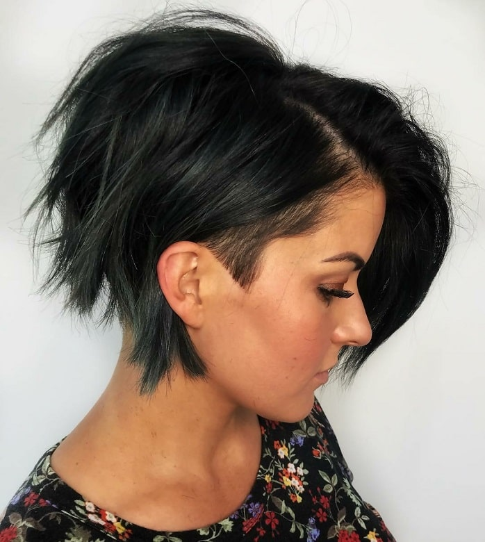 choppy stacked bob for women