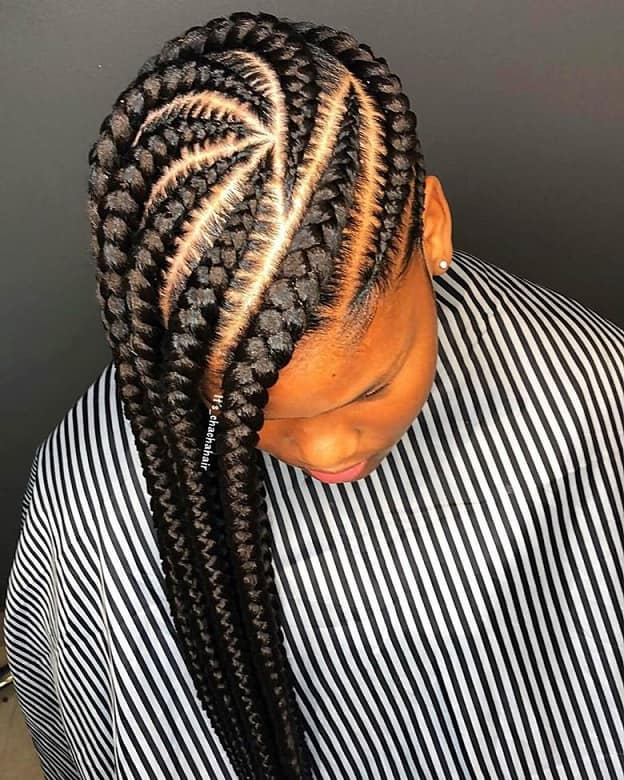 tracks hairstyle with braids