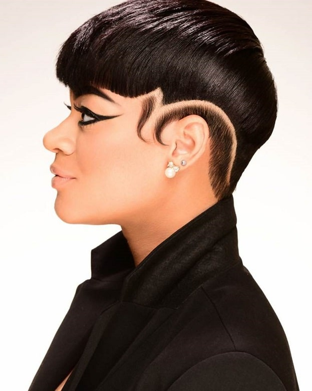short pixie cut for black hair