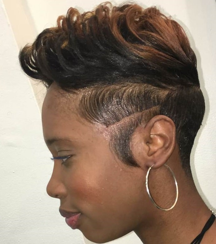 mohawk pixie for black women