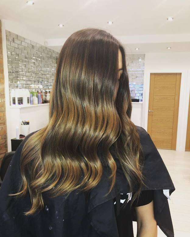 balayage hair color on long hair
