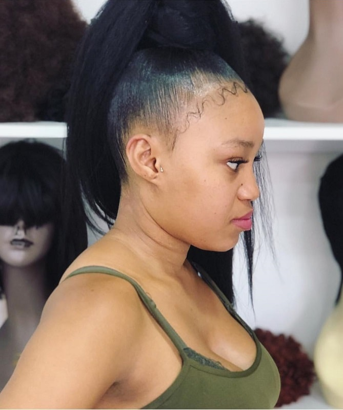 weave ponytail updo for black women