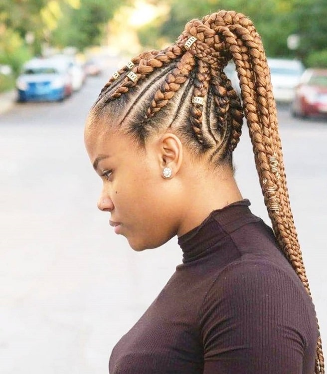 caramel blonde box braids