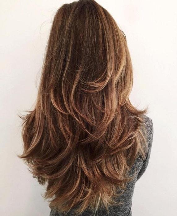 choppy layers on long straight hair