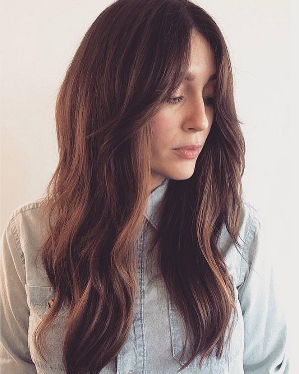 choppy layers with long hair