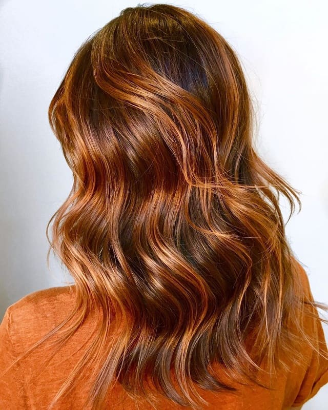 copper blonde balayage highlights