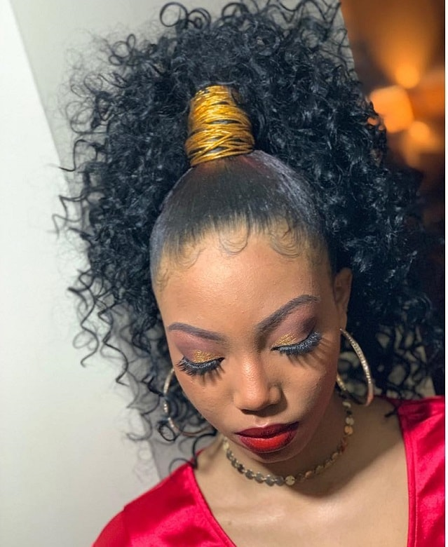 curly genie ponytail for black women