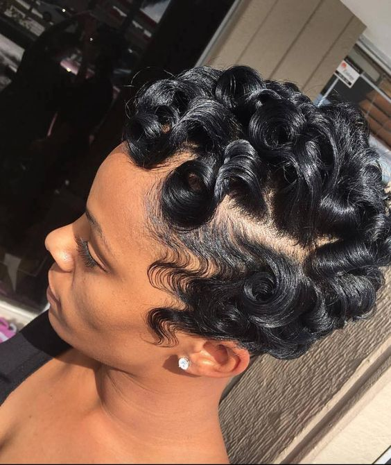 finger waves with weave